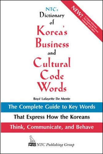9780844283623: NTC's Dictionary of Korea's Business and Cultural Code Words