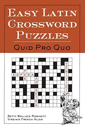 9780844284460: Easy Latin Crossword Puzzles