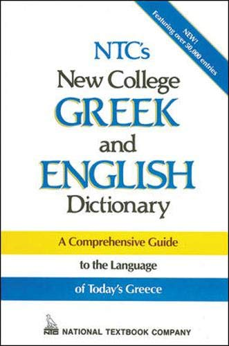 9780844284736: NTC's New College Greek and English Dictionary