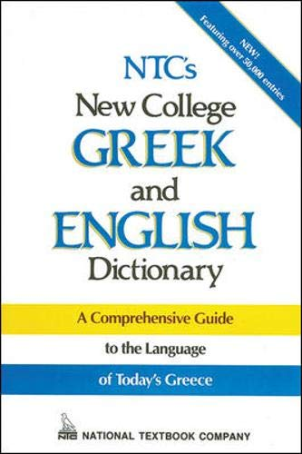 9780844284828: NTC's New College Greek and English Dictionary