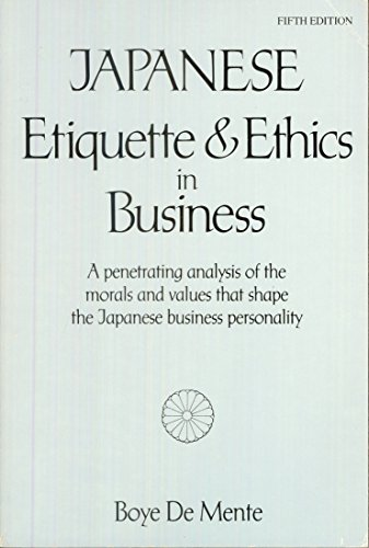 9780844285078: Japanese Etiquette and Ethics in Business