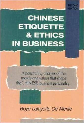 9780844285245: Chinese Etiquette & Ethics In Business