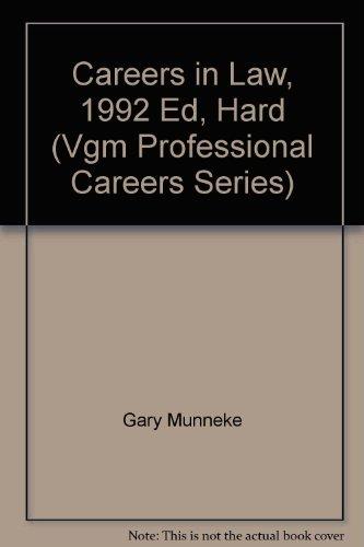 9780844285542: Careers in Law (Vgm Professional Careers Series)