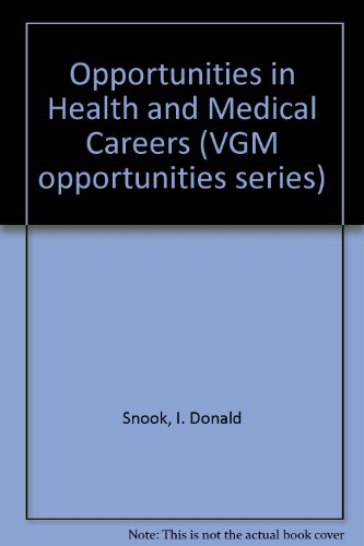 9780844285740: Opportunities in Health and Medical Careers (Vgm Opportunities Series)