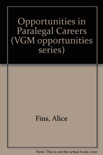 9780844285894: Opportunities in Paralegal Careers (Vgm Career Books Series)