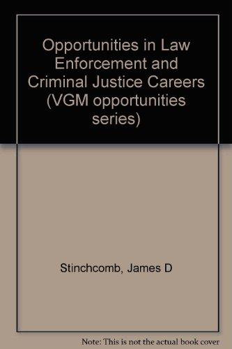 9780844286594: Opportunities in Law Enforcement and Criminal Justice Careers (Vgm Opportunities Series)