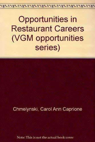 9780844286648: Opportunities in Restaurant Careers (Vgm Opportunities Series)