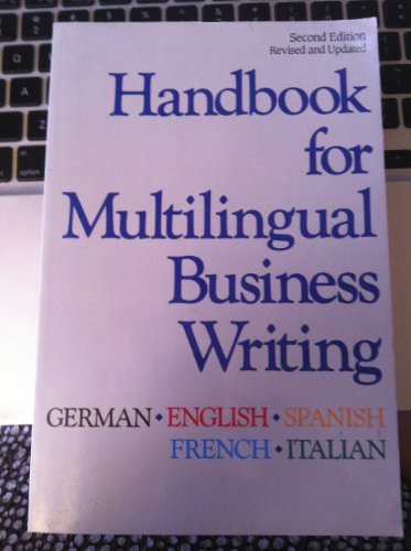 9780844291222: Handbook for Multilingual Business Writing: German, English, Spanish, French, Italian