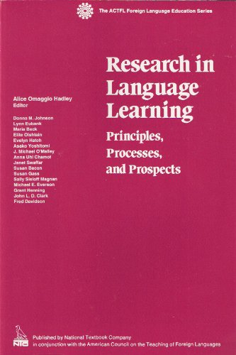 9780844293936: Research in Language Learning: Principles, Processes, and Prospects (ACTFL FOREIGN LANGUAGE EDUCATION SERIES)