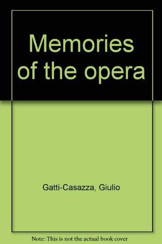 9780844300221: Memories of the Opera
