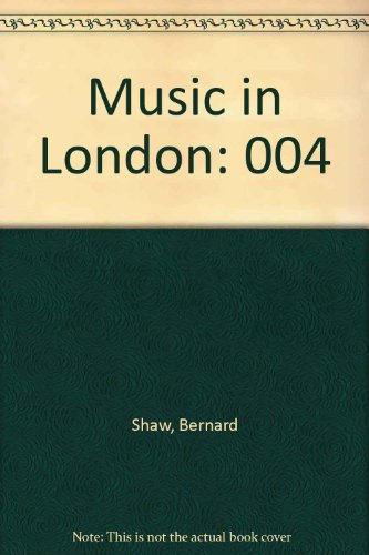 9780844300580: Music in London
