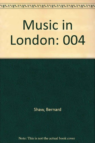9780844300610: 003: Music in London