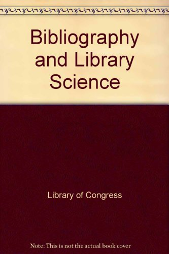 9780844403403: Bibliography and Library Science