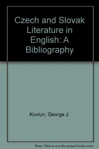 9780844404363: Czech and Slovak Literature in English: A Bibliography