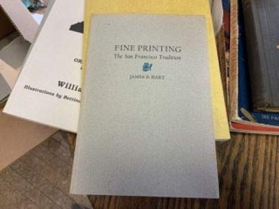 9780844404721: Fine printing: The San Francisco tradition