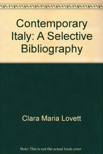 9780844404738: Contemporary Italy: A selective bibliography