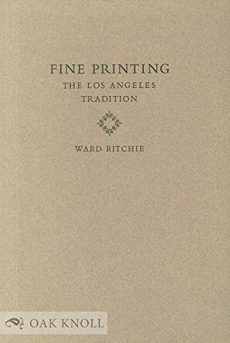 9780844405414: Fine Printing: The Los Angeles Tradition