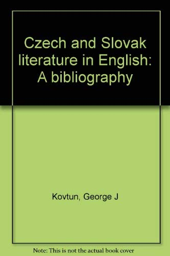 9780844405780: Czech and Slovak literature in English: A bibliography