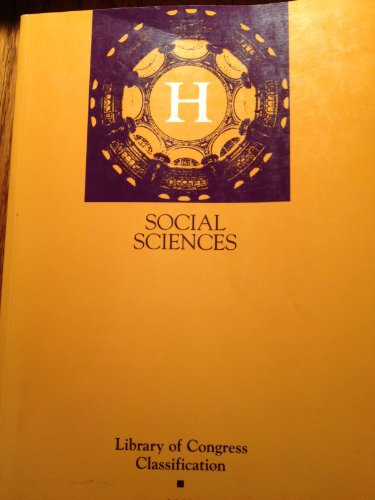 9780844410647: Library of Congress Classification. H. Social Sciences
