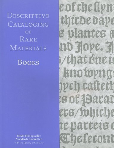 9780844411620: Descriptive Cataloging of Rare Materials (Books)
