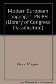 Modern European Languages, PB-PH (Library of Congress Classification)