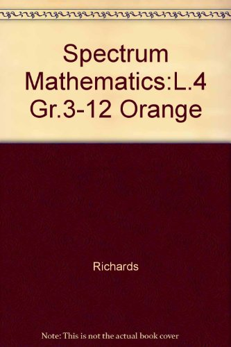 9780844514246: Spectrum Mathematics - Orange Book, Level 4