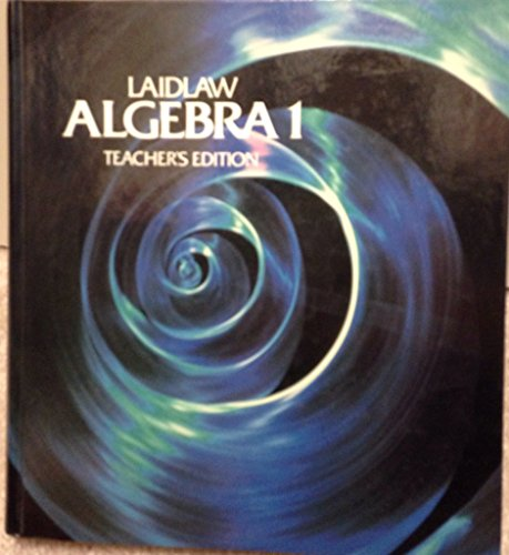 9780844518398: Laidlaw Algebra 1 Teacher's Edition