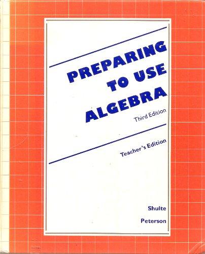 Preparing to Use Algebra Teacher's Edition: Laidlaw Brothers