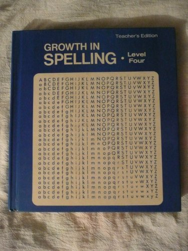 Growth in Spelling 2nd Ed. (Level 4): William N Novicky