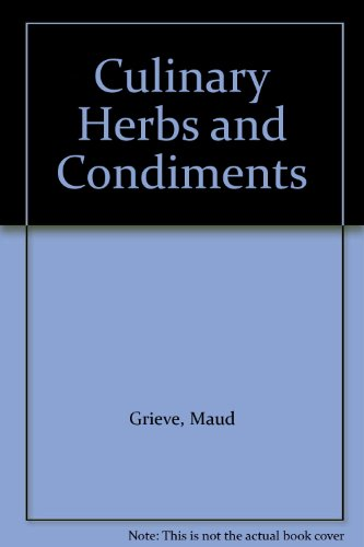 9780844601175: Culinary Herbs and Condiments