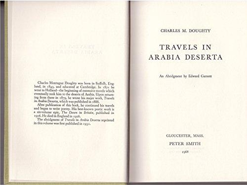 9780844611594: Travels in Arabia Deserta.