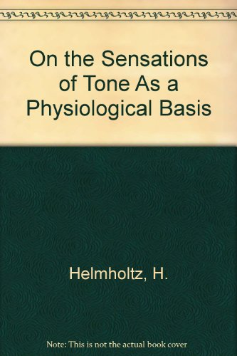 9780844622385: On the Sensations of Tone As a Physiological Basis