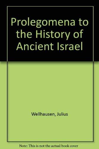 9780844631479: Prolegomena to the History of Ancient Israel
