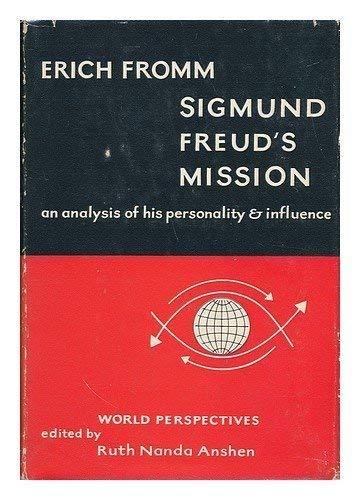9780844645445: Sigmund Freud's Mission