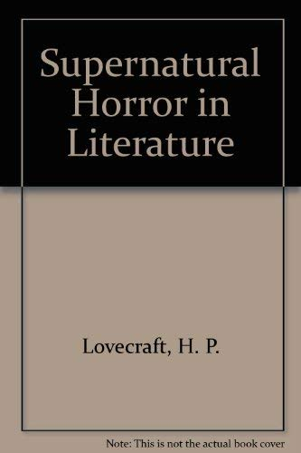 9780844647791: Supernatural Horror in Literature