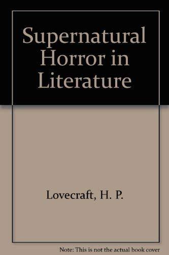 9780844647791: Supernatural Horror in Literature