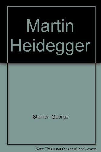 9780844663845: Martin Heidegger