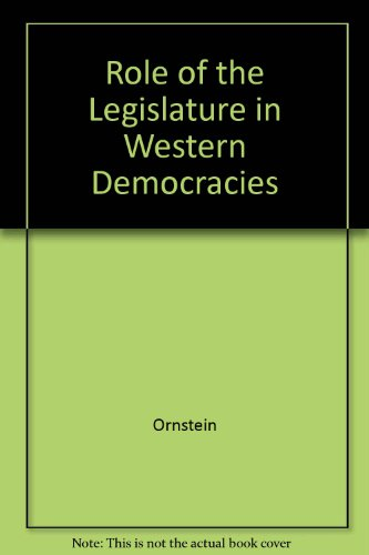 9780844722146: Role of the Legislature in Western Democracies (AEI symposia)