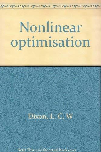 Nonlinear optimisation: Dixon, L. C. W