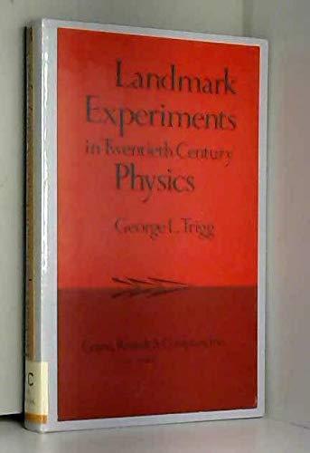 9780844806020: Landmark Experiments in Twentieth-Century Physics