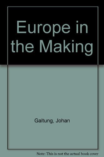 9780844816197: Europe in the Making