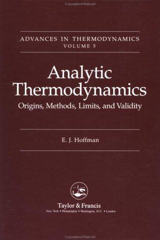 9780844816913: Analytic Thermodynamics (Advances in Thermodynamics)