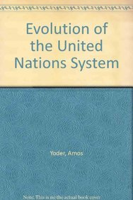 9780844817408: Evolution of the United Nations System (European Meetings on Educational)