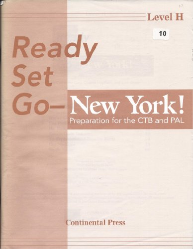 9780845402177: Ready Set Go-new York Preparation for the CTB and PAL Level H with Answer Key (Ready Set Go)