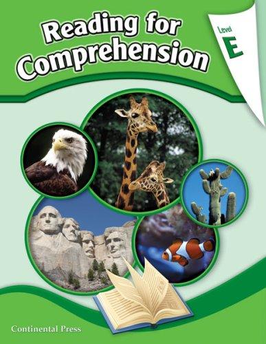 9780845416846: Reading Comprehension Workbook: Reading for Comprehension, Level E - 5th Grade