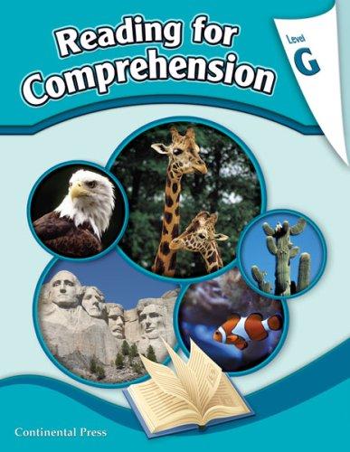 9780845416860: Reading Comprehension Workbook: Reading for Comprehension, Level G - 7th Grade