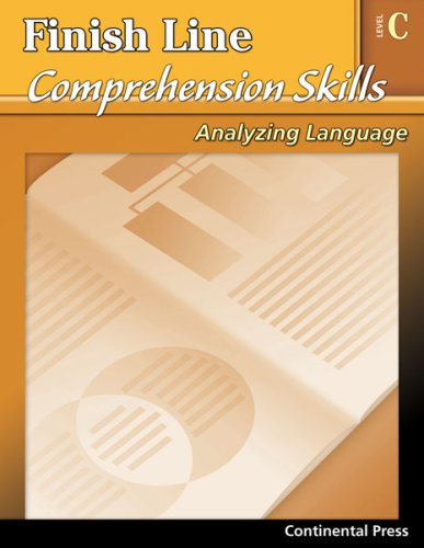 9780845439586: Reading Comprehension Workbook: Finish Line Comprehension Skills: Analyzing Language, Level C - 3rd Grade