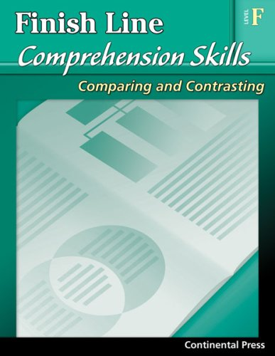 9780845439890: Reading Comprehension Workbook: Finish Line Comprehension Skills: Comparing and Contrasting, Level F - 6th Grade