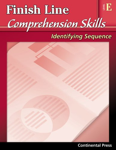 9780845440865: Reading Comprehension Workbook: Finish Line Comprehension Skills: Identifying Sequence, Level E - 5th Grade