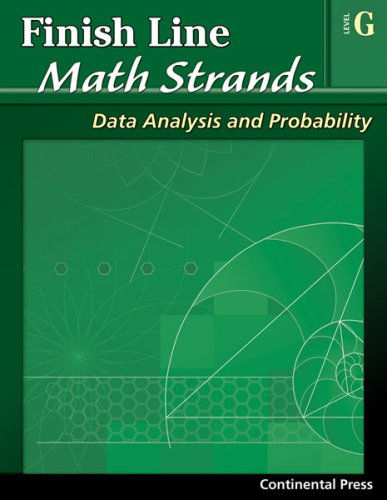 9780845451571: Math Workbooks: Finish Line Math Strands: Data Analysis and Probability, Level G - 7th Grade